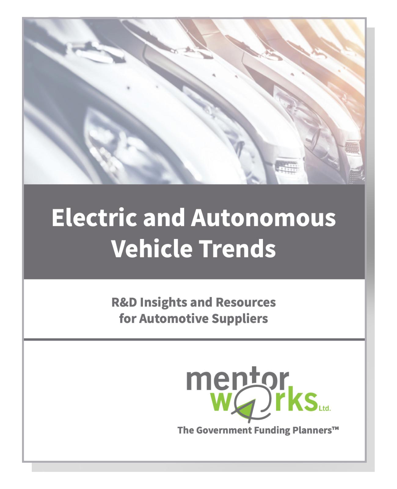 Electric and Autonomous Vehicle Trends Drop Shadow