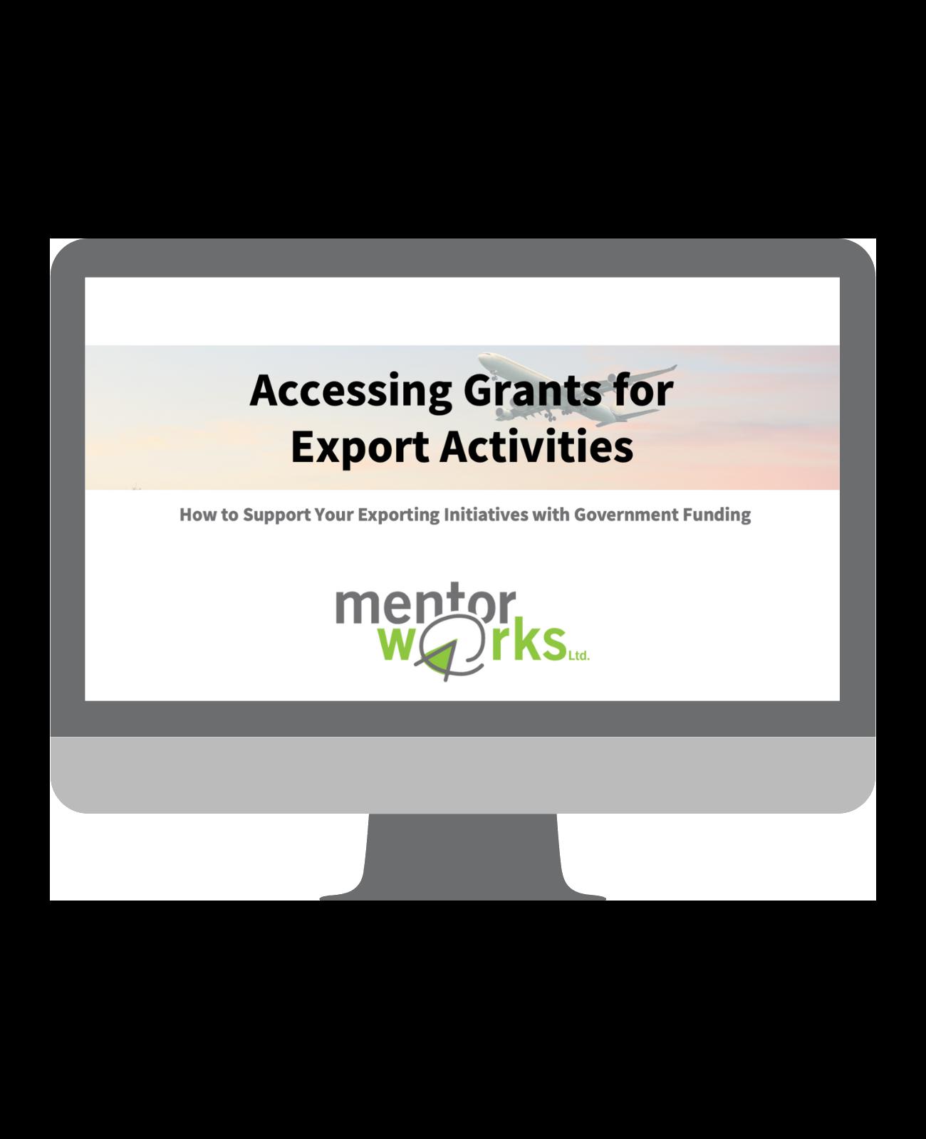 Accessing Grants for Export Activities
